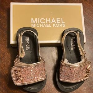 Rose Gold Michael Kors sandals